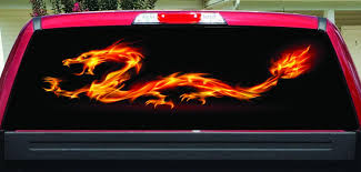 Fire Dragon Rear Window Decal Let S Print Big