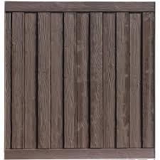 Simtek Ashland 6 Ft H X 6 Ft W Walnut Brown Composite Fence Panel Wp72x72dbr The Home Depot