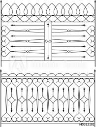 Wrought Iron Gate Door Fence Window Grill Railing Design Stock Image And Royalty Free Vector Files On Fotolia Com Pic 45312181