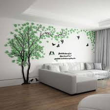 Tree Wall Decal 3d Living Room Green Yellow Acrylic Best Decorative Wall Decals Living Room Green Wall Decor Wall Decor Living Room