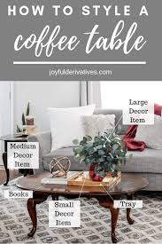 coffee table styling how to decorate