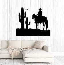 Vinyl Wall Decal Cowboy Wild West Cactus Boy Room Stickers Decor Uniqu Wallstickers4you