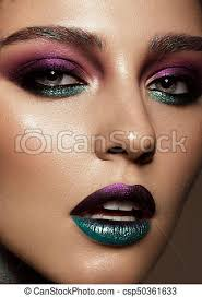 creative colorful makeup beauty face