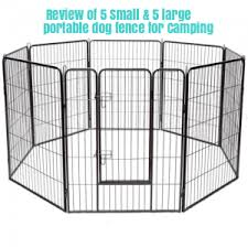 Small Large Portable Dog Fence For Camping Review Noorush