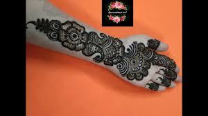 mehndi design arabic easy for front hand photo