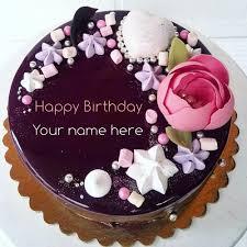 beautiful chocolate birthday cake with