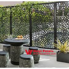 Laser Cut Garden Screen Decorative Outdoor Metal Screen For