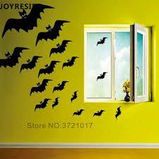 Joyreside Bats Group Wall Decal Halloween Home Decoration Wall Stickers Vinyl Bat Animal Decals Scary Halloween Wall Decor Wm024 Wall Stickers Aliexpress