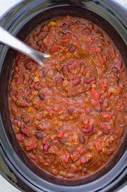 slow cooker chili easy crockpot recipe