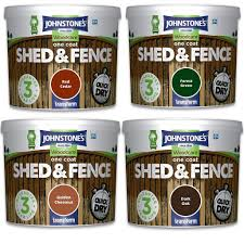Johnstone S One Coat Shed Fence Paint 9ltr Yorkshire Trading Company