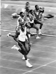 Unknown/ABC - Carl Lewis and Calvin Smith as they head into - Catawiki