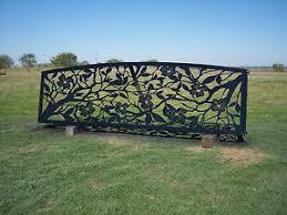 Handmade Metal Fence Panel Entrance Gates Steel Fence Metal Art