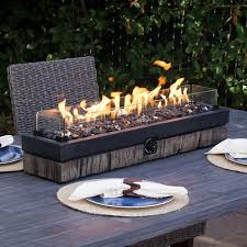 tabletop gas fire pit patio table top