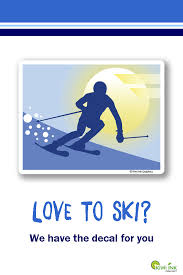 Skiing Skiing Sticker Sports Stickers Skiing Decal Vinyl Etsy Sports Decals Water Bottle Decal Vinyl Decals