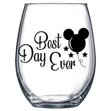 Amazon Com Best Day Ever Mickey Balloon Decal Only Vinyl Sticker For Wine Glass Mug Or Cup Baby