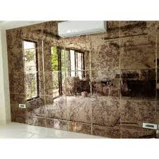 wall mounted designer glass mirror for