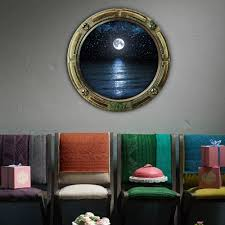 3d Submarine Windows Wall Sticker For Moonlight On The Sea For Kids Creative Wall Decal Mural Home Decoration Cheap Wall Sticker Mural Wall Sticker Murals From Carrierxia 2 96 Dhgate Com