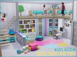 Akisima Sims Blog Children S Room Bunk Beds For Two Sims 4 Downloads Sims House Sims 4 Loft Sims 4 Bedroom