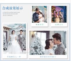 雪花雪景素材婚纱PSD模板摄影写真Cosplay后期合成影楼调色_源码铺子