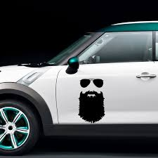 2x Beard Sticker Funny Personality Car Styling Glasses Vinyl Decal Mustache Car Accessories Jdm Jdm Style Car Accessoriesstickers Funny Aliexpress