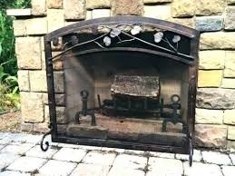 outdoor fireplace screens outdoor