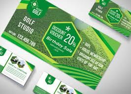 gift voucher design template psd mockup