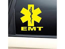 Emt Medical Emblem Vinyl Decal Laptop Car Truck Bumper Window Sticker Yellow Newegg Com