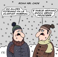 Le vignette di FEI: Maltempo, neve a Roma. Scuole chiuse. Treni ...