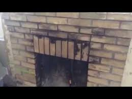 soot cleanup brick fireplace you