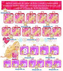 Kit Imprimible Barbie Invitaciones Tarjetas Cajas Fondos Y