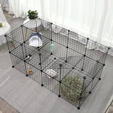 Wire Metal Pet Dog Rabbit Puppy Guinea Pigs Exercise Diy Playpen Fence Cage Indoor Out Door Portable Yard Fence 12 32 Panels Wish