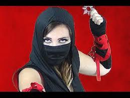 female ninja costume makeup how to