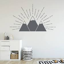 Mountain Wall Decal Vinyl Wall Decals For Kids Woodland Wall Etsy
