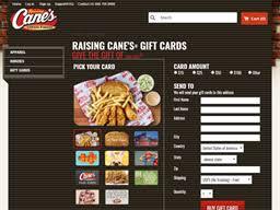 raising cane s gift card balance