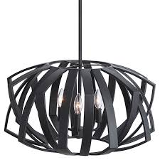 geometric pendant light in black