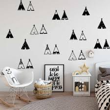 Modern Tribal Forest Wall Decal Vinyl Wall Stickers For Kids Rooms Decoration Wall Decals Creative Tent Sticker On Wall Murals Wall Stickers Aliexpress