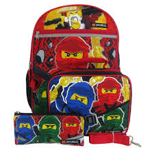 LEGO Ninjago 4-Piece Backpack Set   Lego, Lego ninjago, Lego gifts