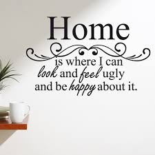 happy home wall sticker quote wall chimp uk