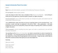 scholarship thank you letter 8 free