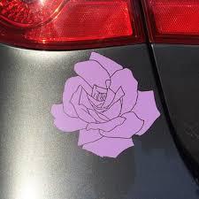 Rose Vinyl Decal Rose Flower Sticker Rose Decals For Car Etsy