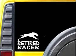 Amazon Com Ez Stik Retired Racer Sticker K229 8 Inch Greyhound Whippet Decal Automotive