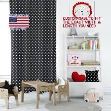 Polka Dot Black White Playroom Curtains Kids Room Curtains Etsy