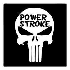 Power Stroke Big 8x10 Punisher Skull Diesel F250 F350 Truck Window Decal Sticker Ebay
