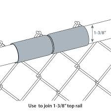 Chain Link Fence Galvanized Top Rail Sleeve 1 3 8 1 5 8 And 1 7 8 X 6