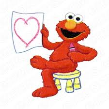 Sesame Street Elmo Heart Tv T Shirt Iron On Transfer Decal Tvss21 Your One Stop Iron On Transfer Decal Super Shop Eironons Com
