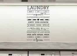 Laundry Room Rules Wall Decal Laundry Room Decals