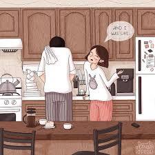 ilustrasi rasanya punya suami cuek gemas campur sayang
