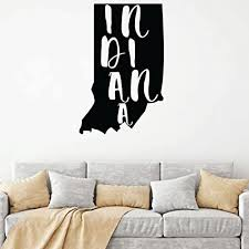 Amazon Com Indiana Wall Decal State Silhouette Vinyl Art For Home Decor Living Room Or Family Room Decoration Handmade