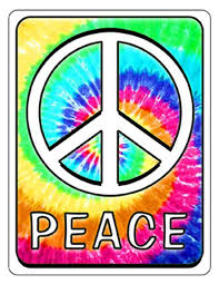 Tie Dyed Peace Sign Car Auto Decal Window Sticker