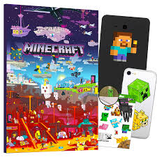 Amazon Com Minecraft Decorations Artwork Wall Art Ultimate Bundle 24 Pcs Minecraft Poster Stickers Decals For Walls Laptop Car Minecraft Room Decor For Boys Girls Kids Baby